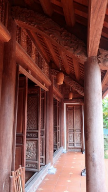 The entrance to our traditional Vietnamese house